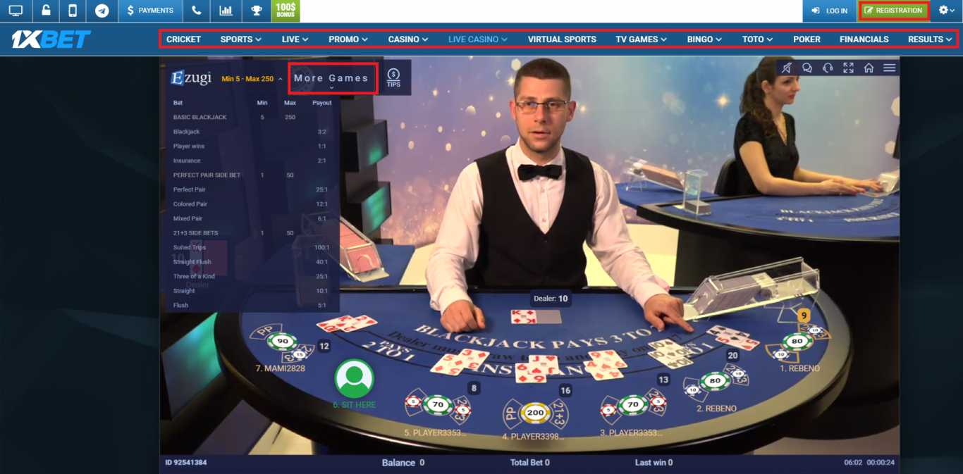 Online Casino at 1xBet